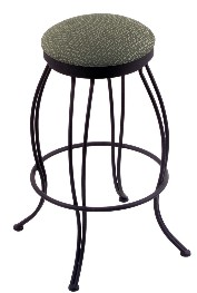 swivel seat metal bar stool shown in black wrinkle, AxsGr seat