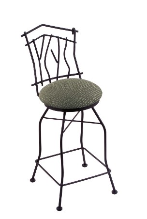 "Aspen swivel seat bar or counter stool, black wrinkle only, 25 or 30"" seat ht"