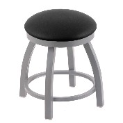 "18"" misha stool shown in anodized nickle, black vinyl seat"