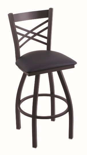 "Catalina metal swivel seat bar, counter stool with back  in 25, 30 or 36"" tall seat"