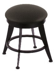"18"" laser stool shown in black wrinkle, black vinyl seat; footprint: 15x15"""