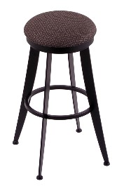 Laser swivel seat bar, counter stool, black wrinkle only shown w/AxsTrf seat