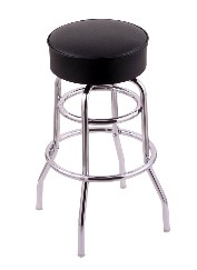 "swivel metal bar, counter stool,  chrome, w/4"" thick seat; 25"" or 30"""