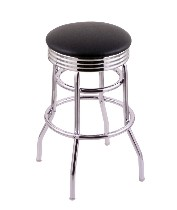 "2.5"" ribbed ring swivel seat bar, counter stool, Chrome only; 25"" or 30"""