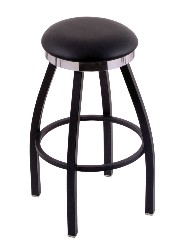 "flat ring swivel seat bar counter stool, black wrinkle only, 25"" or 30"""