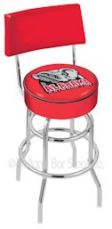 metal swivel seat baar stool with college, nhl or military logo