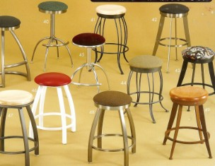 metal swivel seat bar stools without back