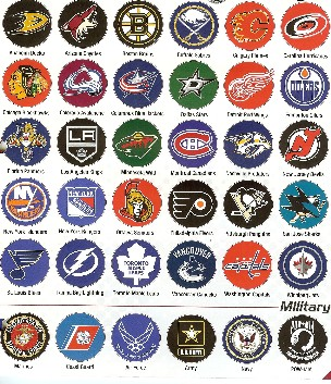 College, NHL or military logos available on bar stools and pub tables