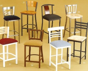 Fixed seat  bar stools and chairs