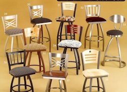 metal swivel seat bar stools with back